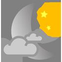 Nuit avec développement nuageux